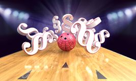 Bowling Pindeck With Paragraphs vector illustration