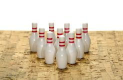 Bowling Pins. Photo of Bowling Pins - Bowling Concept stock images