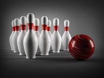 Bowling pins. Royalty Free Stock Photo