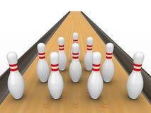 Bowling pins. Royalty Free Stock Photos