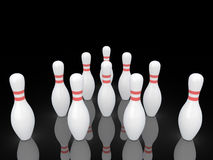 Bowling pins. Royalty Free Stock Images