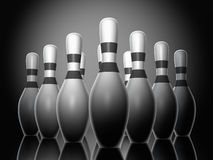 Bowling pins Royalty Free Stock Images