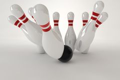 Bowling pins Royalty Free Stock Photography