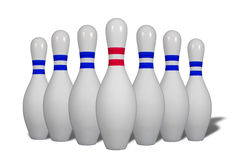 Bowling pins Royalty Free Stock Image