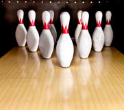 Bowling pins Stock Photos