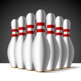 Bowling pins. Vector illustration of a bowling pins Stock Photos