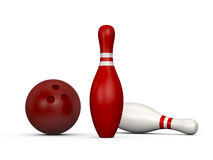 Bowling Pins and Ball Royalty Free Stock Images