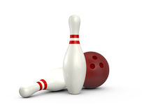 Bowling Pins and Ball Royalty Free Stock Photography