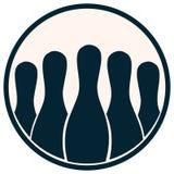 Bowling Pins Icon. royalty free stock image