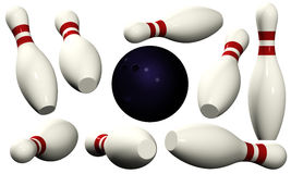Bowling Pins - Isolated Royalty Free Stock Image