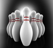 Bowling Pins Show Skittles Alley Royalty Free Stock Image