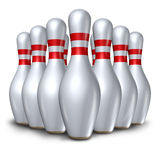 Bowling pins ten pin set bowl symbo Stock Photography
