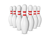 Bowling pins. On a white background. 3d illustration Royalty Free Stock Photography