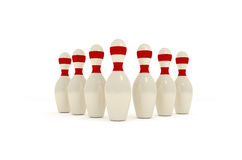 Bowling pins Royalty Free Stock Image