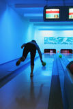Bowling player Stock Image