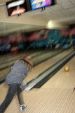 Bowling. Playing bowling as a recreational activity Royalty Free Stock Photo