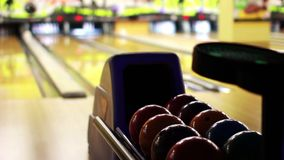 Bowling playing stock video footage