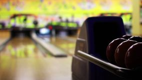 Bowling playing stock video