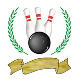 Bowling poster Royalty Free Stock Image