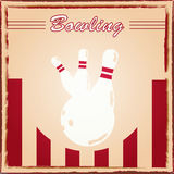 Bowling poster. Image of a retro style bowling poster Royalty Free Stock Photography