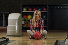 Bowling Problem At The Bowling Alley Royalty Free Stock Image