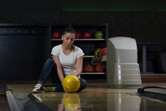 Bowling Problem At The Bowling Alley Royalty Free Stock Photo