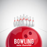Bowling realistic theme eps 10. Illustartion of bowling realistic theme eps 10 Royalty Free Stock Photo