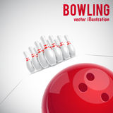 Bowling realistic theme eps 10. Illustartion of bowling realistic theme eps 10 Royalty Free Stock Photography