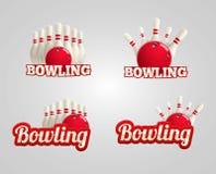 bowling realistic theme set eps 10 Stock Photos