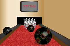 Bowling room Royalty Free Stock Photography