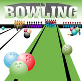 Bowling room Royalty Free Stock Photo