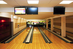 Bowling room Royalty Free Stock Image
