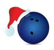 Bowling Santa Cap Fotografia Stock
