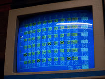 Bowling score results screen Royalty Free Stock Photography