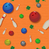 Bowling seamless pattern Stock Photo