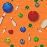Bowling seamless pattern Stock Photo