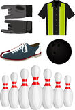 Bowling set Stock Photos