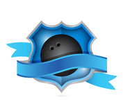 Bowling shield illustration design Stock Photos