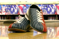 Bowling shoes stock image