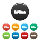 Bowling shoes icons set color royalty free illustration