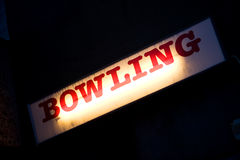 Bowling sign Royalty Free Stock Photos