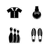Bowling. Simple Related Vector Icons Royalty Free Stock Photography