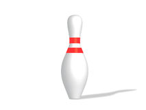 Bowling skittle. 3D render of bowling skittle on a white background Stock Photo