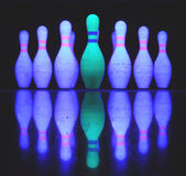Bowling skittles Royalty Free Stock Image