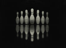 Bowling skittles Royalty Free Stock Images
