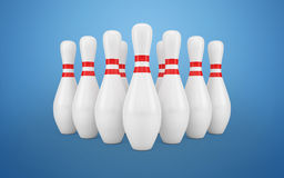 Bowling Skittles  Stock Photo