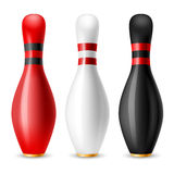 Bowling skittles Stock Photography