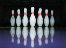 Bowling skittles Royalty Free Stock Photos