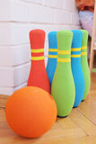 Bowling soft colorful pins Stock Images