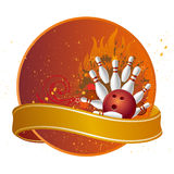 Bowling sport. Design elements for bowling sport Royalty Free Stock Photos